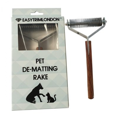 Grooming Rake Comb Pet Dematting Tool 30 Blade for Cats Dogs