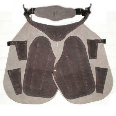 3rd Millennium All Leather Apron - Short